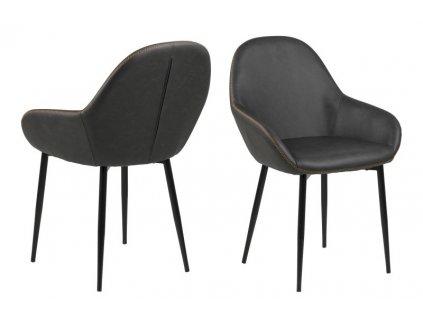 Židle CANDIS šedá pu