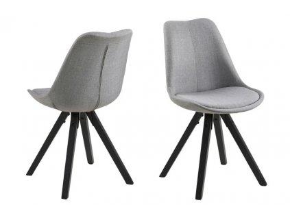 Židle DIMA světle šedá/černá