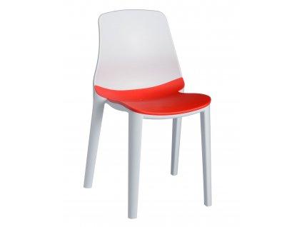 Židle LYZA bílo - červená