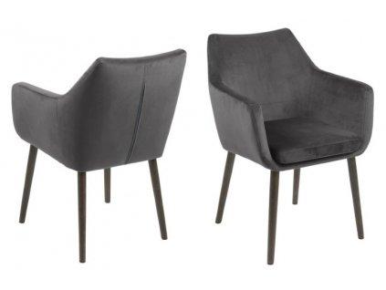Židle NORA VICENTE tmavě šedá