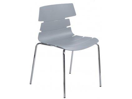 Židle Techno 4 PP šedá