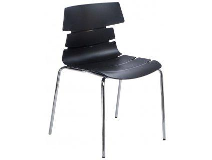 Židle TECHNO 4 pp černá