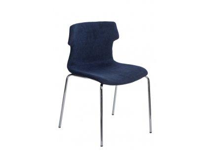 Židle Techno 4 polstrování modré 1817