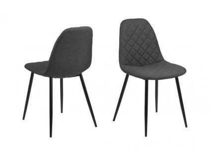 Židle Wilma tmavě šedá