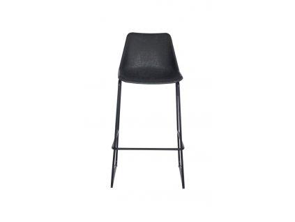 Židle barová BRITY VINTAGE BLACK