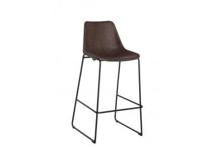 Židle barová BRITY VINTAGE MOCHA