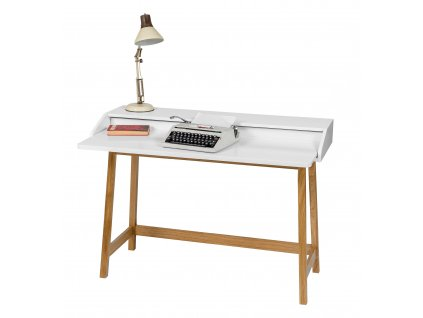 St James Compact Desk WhiteOak mood02