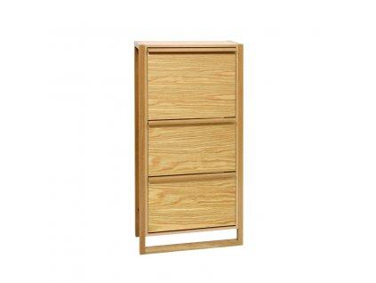 NewEst Shoe Cabinet Oak 3Door 01