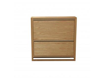 NewEst Shoe Cabinet Oak 2Door 04