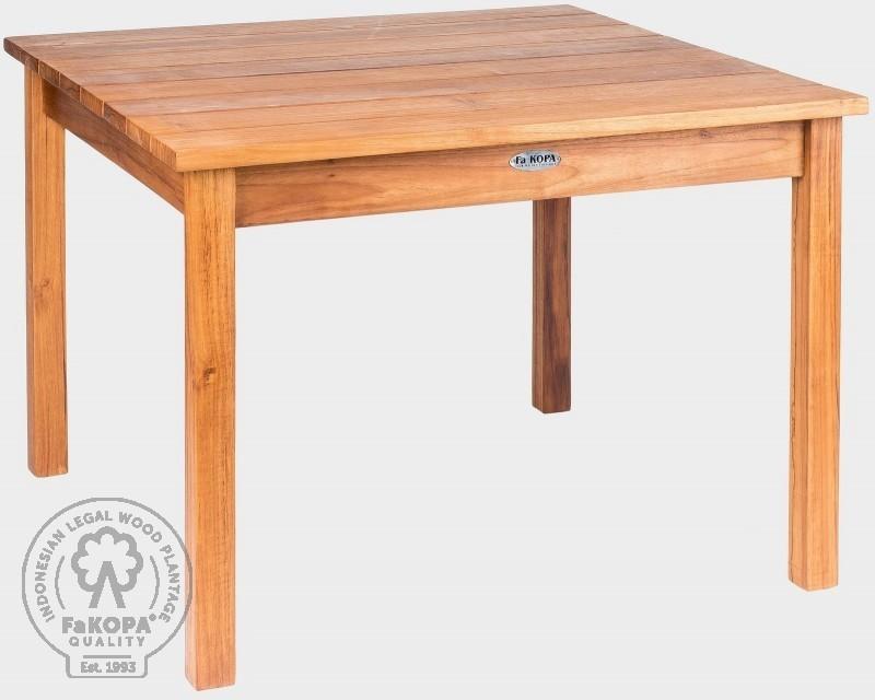 Teakový stůl pevný 75x75x45 cm GIOVANNI mini