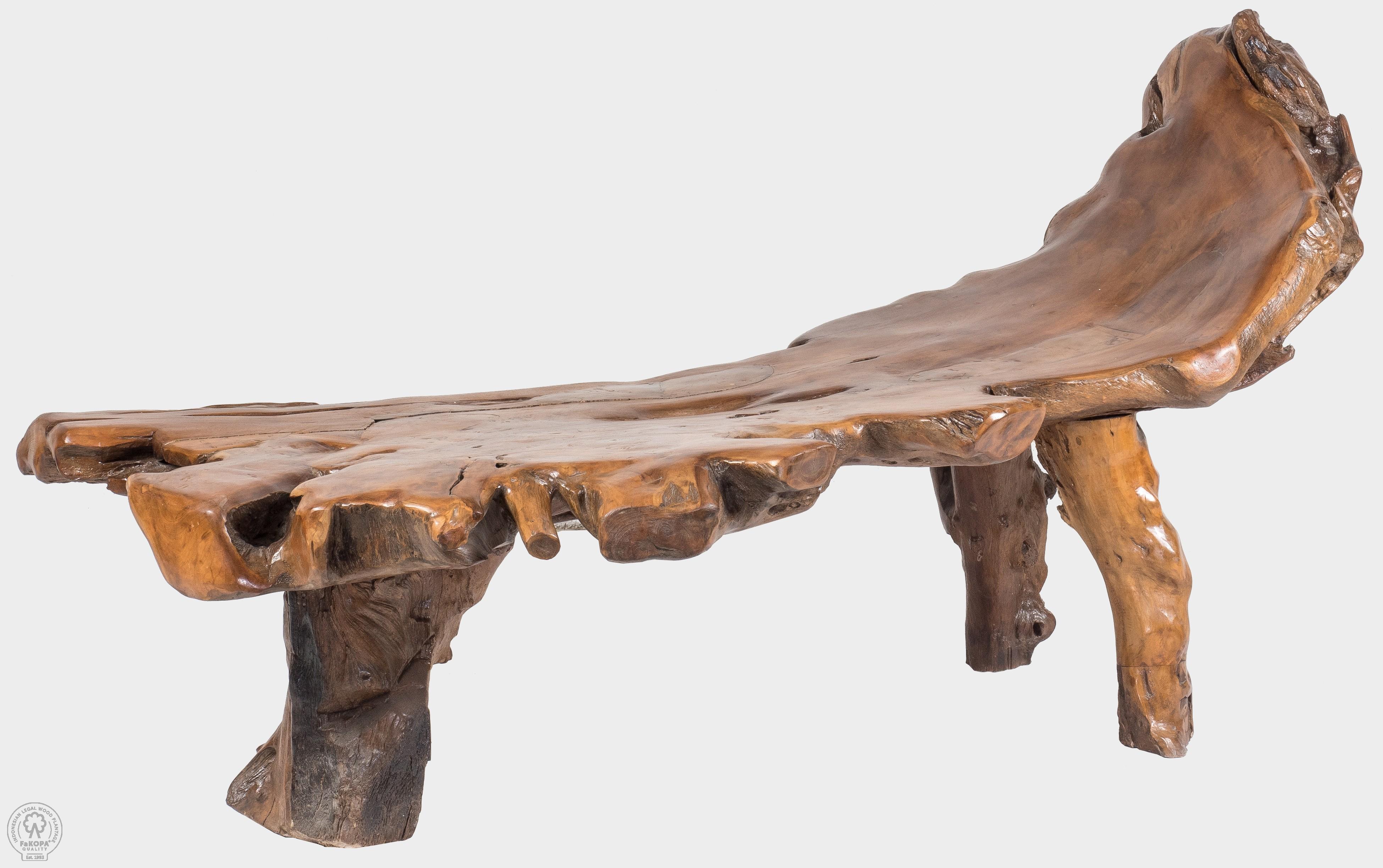 Lavice z kořene teaku MEGERA
