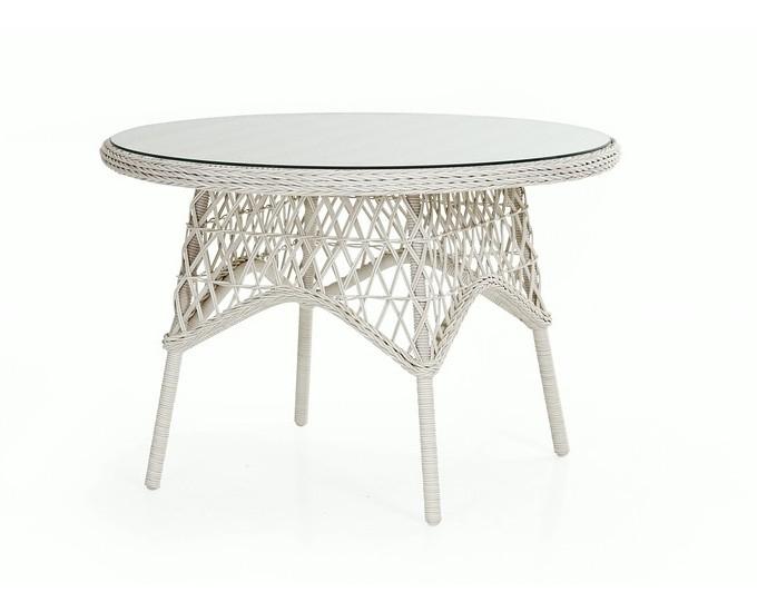 Azurový kulatý stůl 110 cm ORLEANS