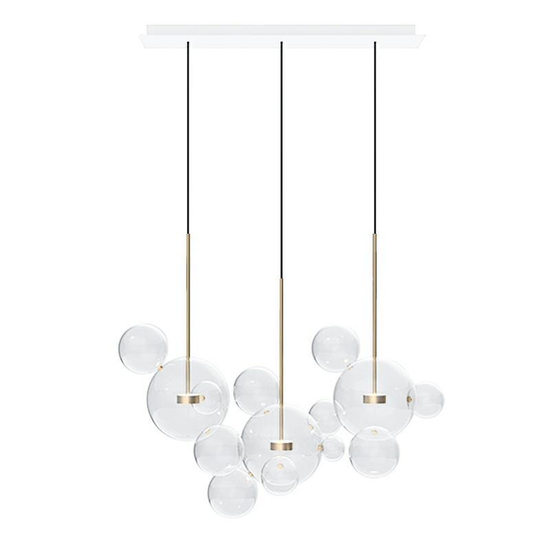 Levně Závěsná lampa CAPRI LINE 3 - LED, sklo, kov