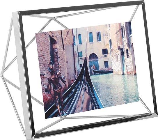 UMBRA rámeček na fotografie PRISMA 10x15 cm - chromovaný
