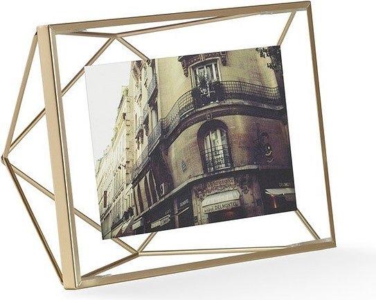 UMBRA rámeček na fotografie PRISMA 10x15 cm - zlatý