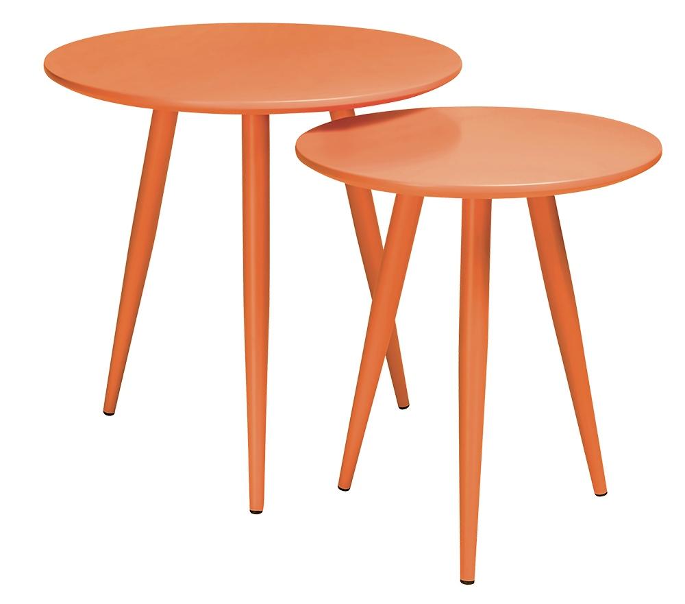 Sada stolků LEO oranžová