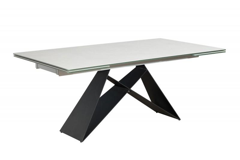 Rozkládací stůl PROMETHEUS cement - keramická deska,kovová základna