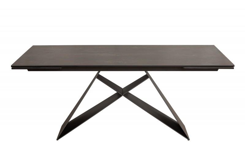 Rozkládací stůl PROMETHEUS lava - keramická deska, kovová základna