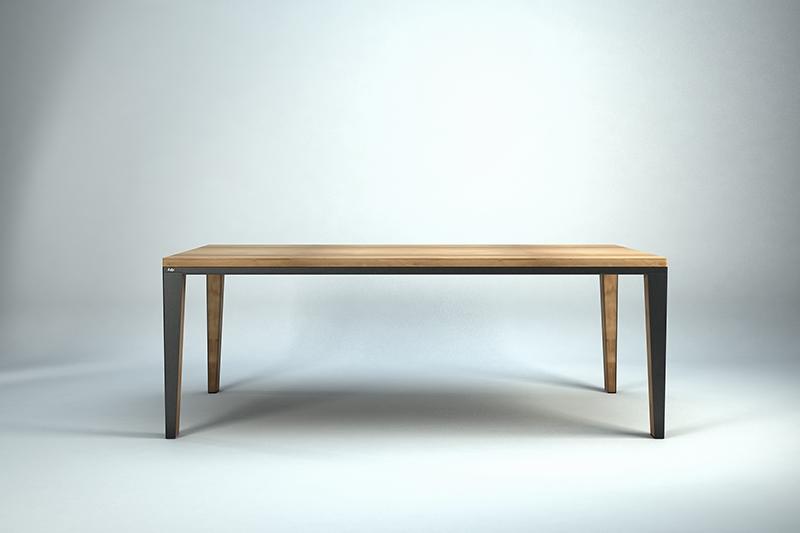 Stůl DYLE PURE PROPELLER 200x100 dub - lakované nohy