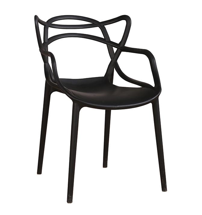Židle HILO PREMIUM černá - polypropylén