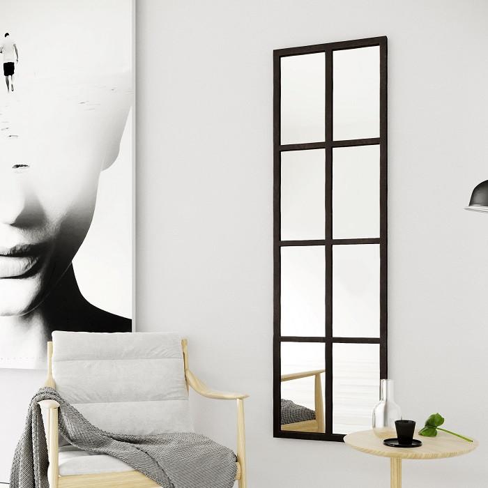 Zrcadlo s kovovým rámem | Factoria zrcadlo - Výška: 160 cm