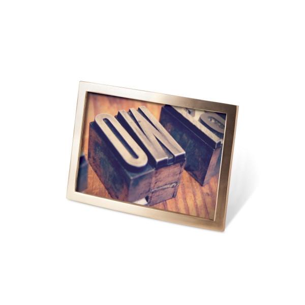 Rámeček na fotografie Senza 10x15 Brass matný