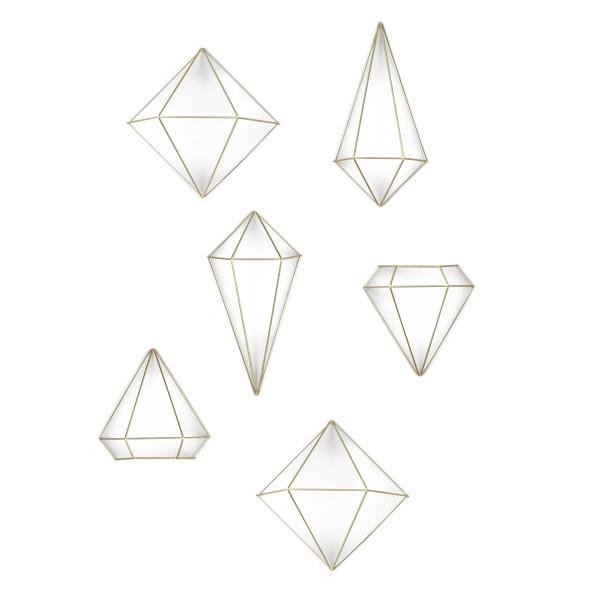 Dekorace nástěnná Prisma Brass