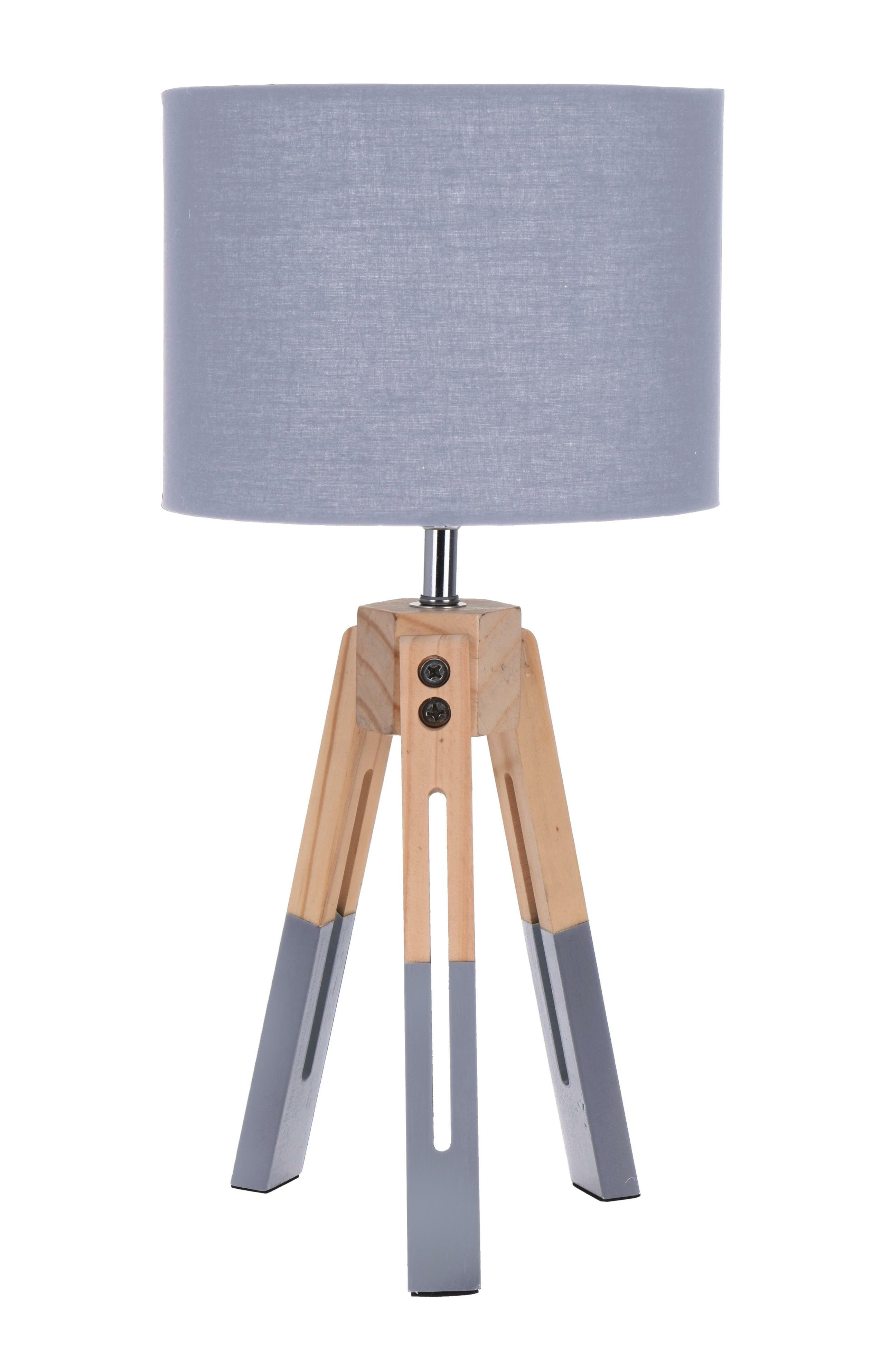 Lampička stolní Intesi Brex šedá