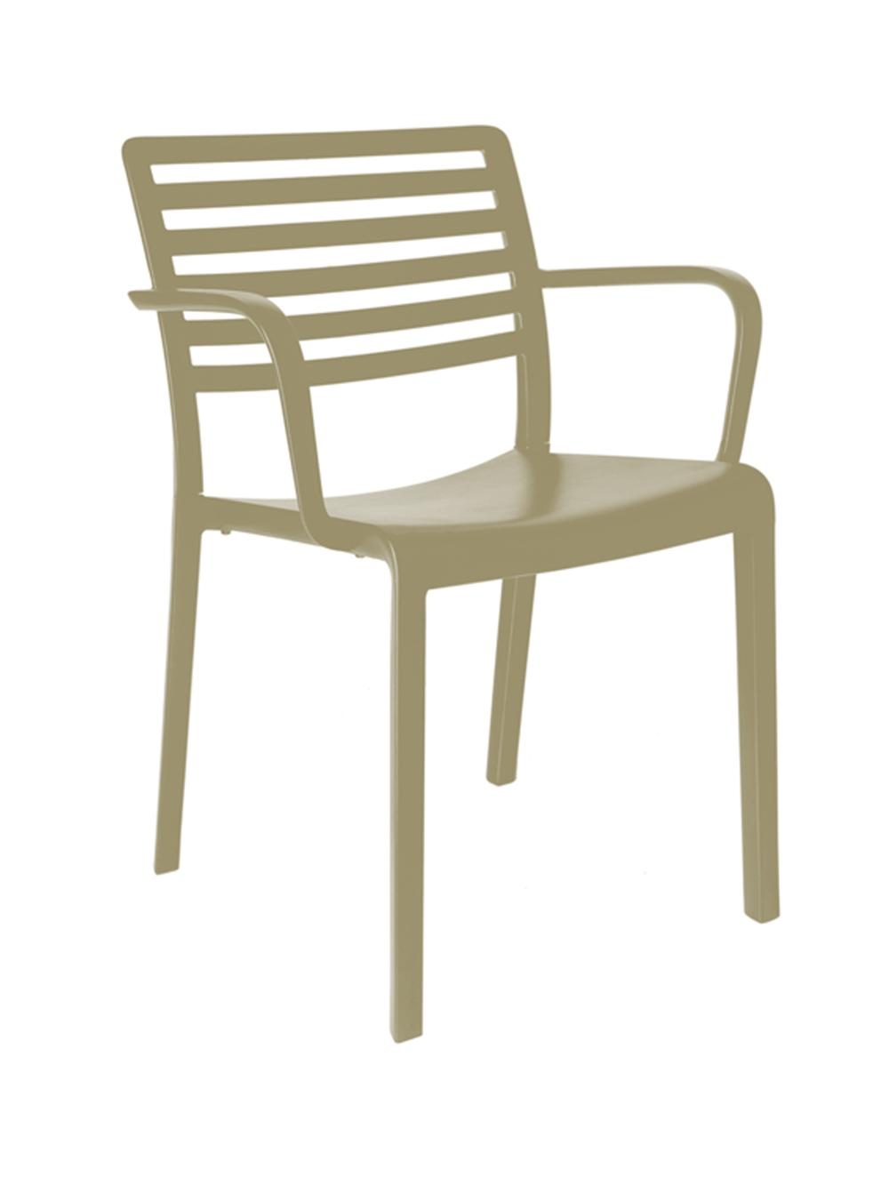 Židle Lama písková s područkami