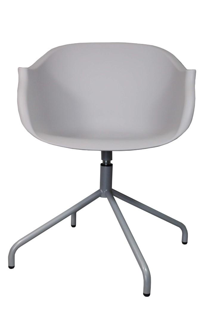 Židle Roundy světle šedá