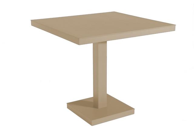 Stůl Barcino 80x80 cm středová podstava - pískový