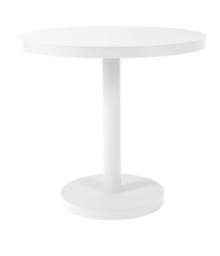 Stůl Barcino kulatý 80cm středová podstava bílý