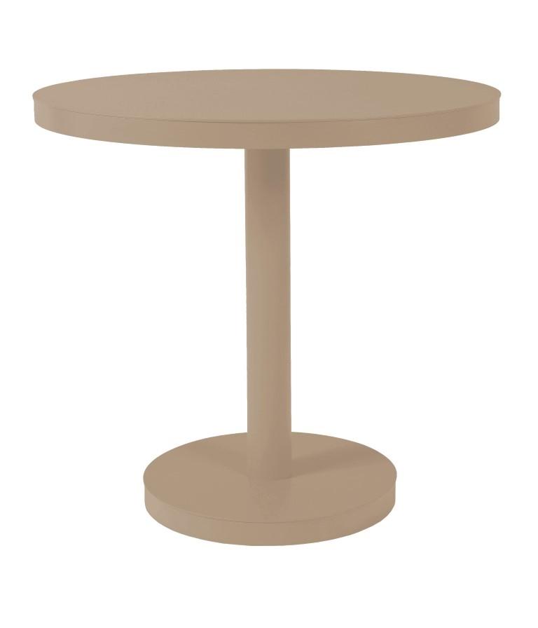 Stůl Barcino kulatý 80cm středová podstava pískový
