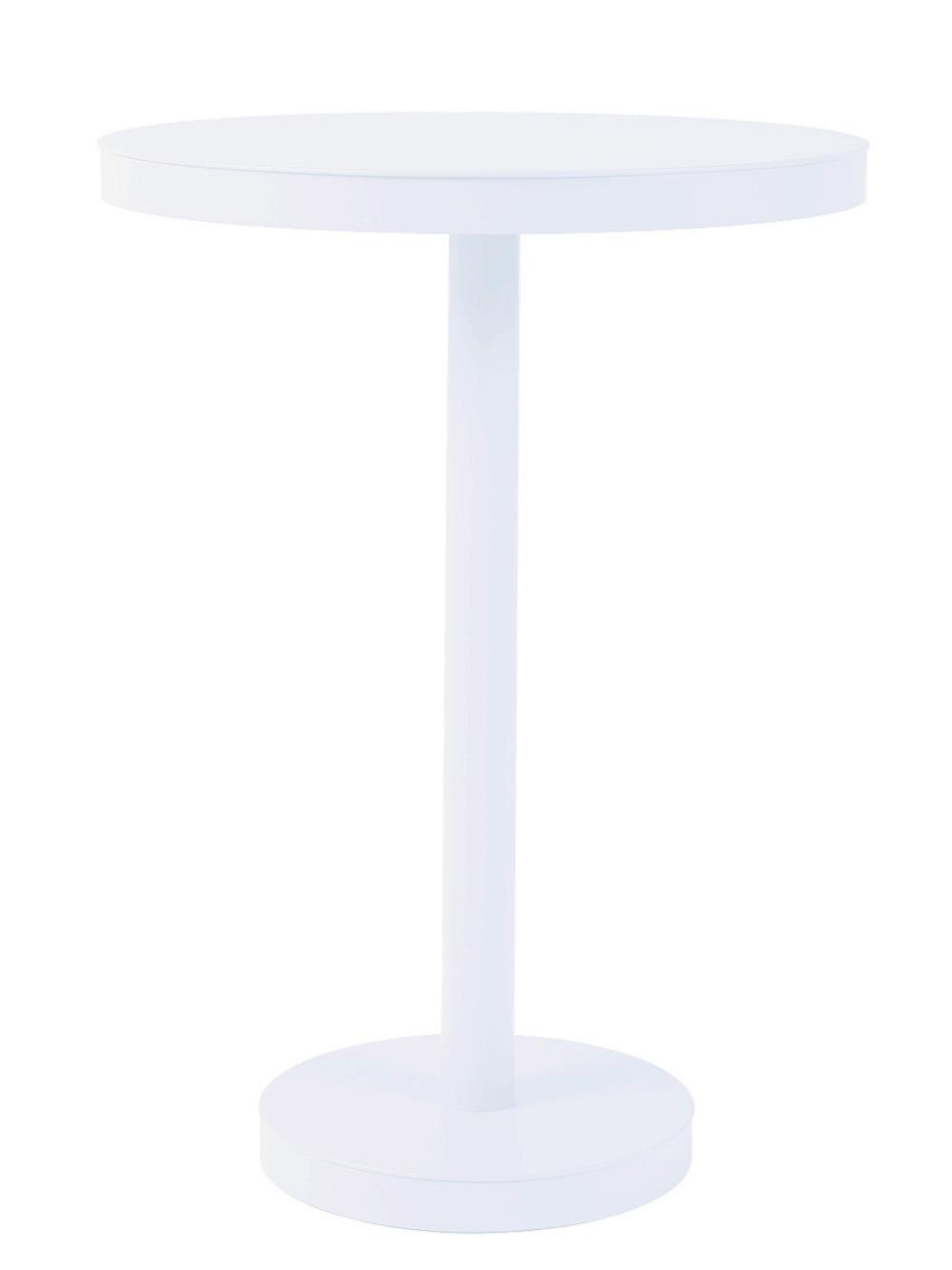 Stůl Barcino vysoký, kulatý 60cm středová podstava - bílý