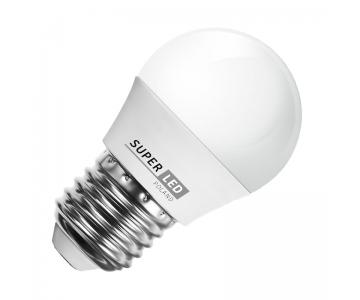 Žárovka LED E27 7W koule teplá bílá