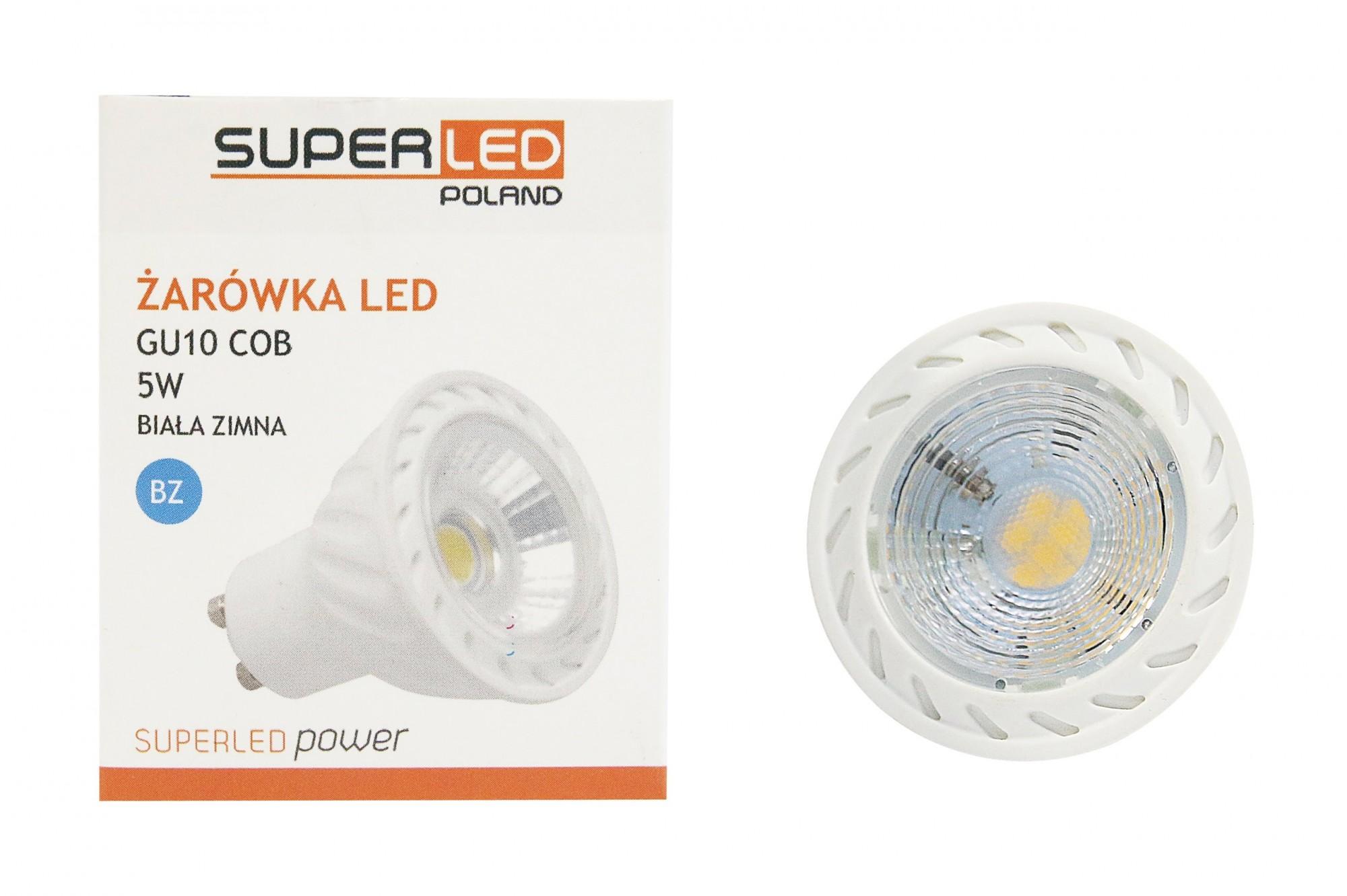 Žárovka LED GU10 COBEN SMD 450lm 5w = 50w Ra80 60° NESMYSL