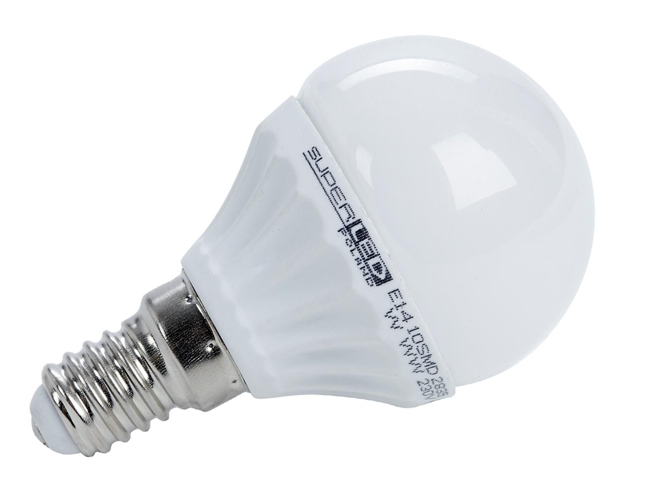 Žárovka LED E14 7W koule studená bílá