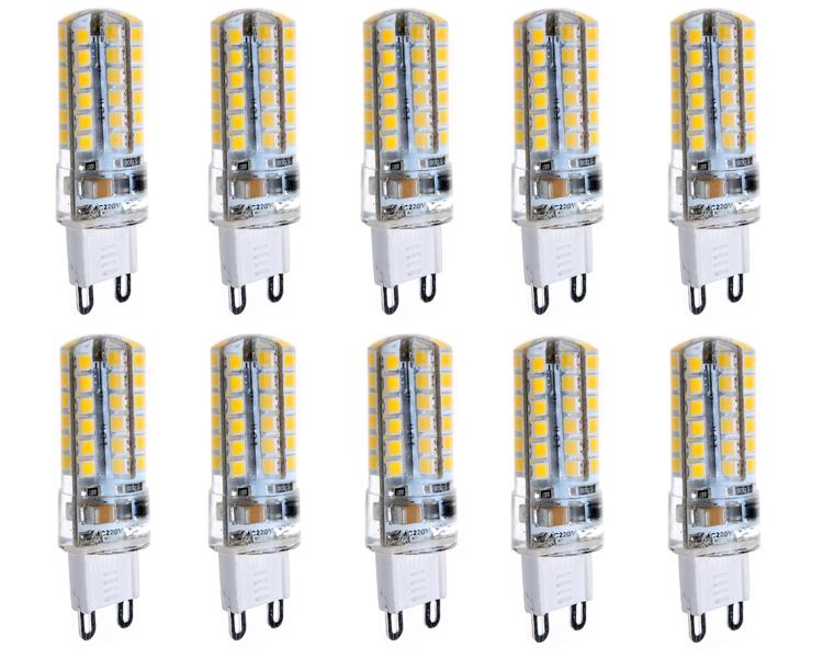 Sada 10x žárovka LED G9 360lm 4W=40W 220V teplá