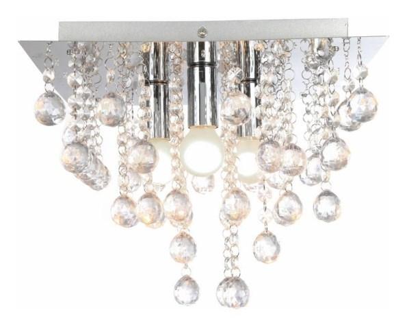 Stropní lampa, křišťálový lustr 3x E14