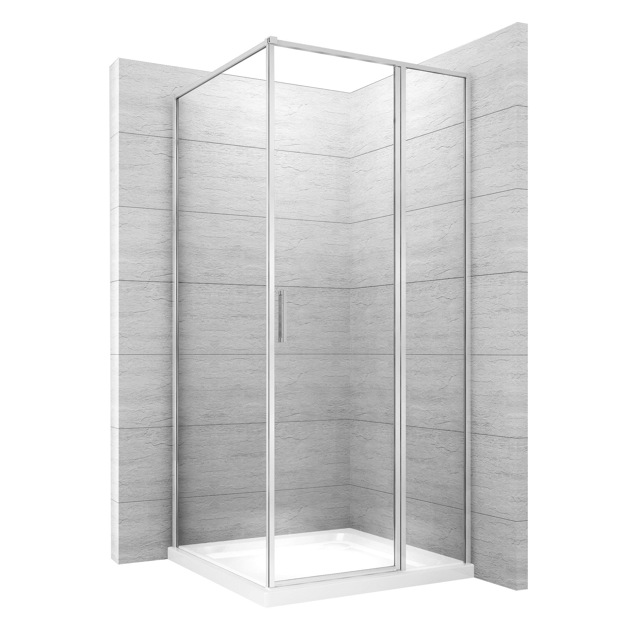 Kout sprchový Atrium Square 80 x 100 - Profil: pravý