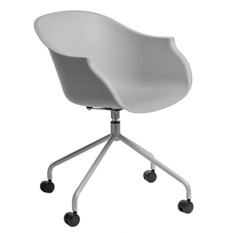 Židle na kolečkách ROUNDY šedá