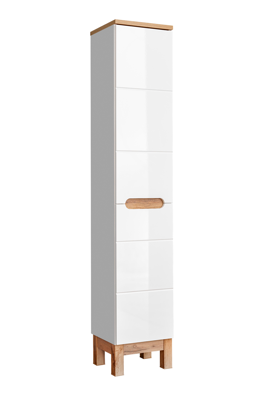 Skřínka boční vysoká BALI 2D s košem