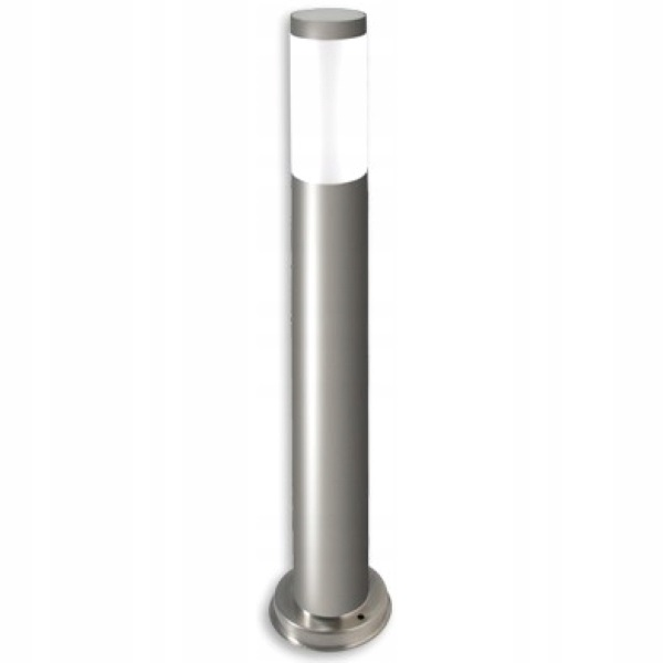 Lampa zahradní stojanová stojan kruhový 65cm venkovní E27 chrom (INOX)