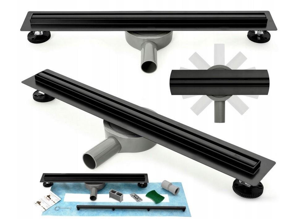 Odtok liniový NEO SLIM PRO BLACK  Varianta produktu - 90 cm
