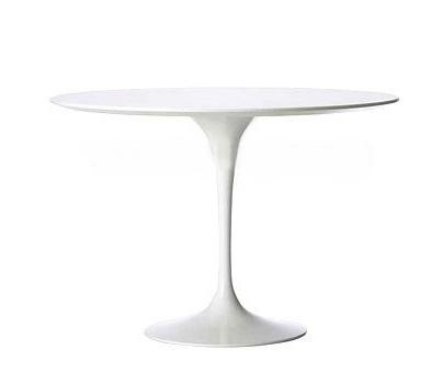 Stůl Fiber o120 bílý MDF