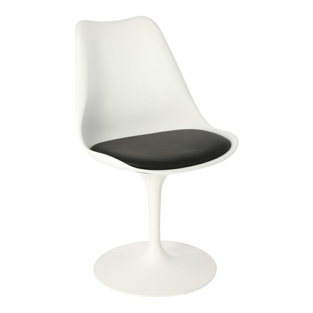 Židle Tulip Basic bílá/černý polštářek
