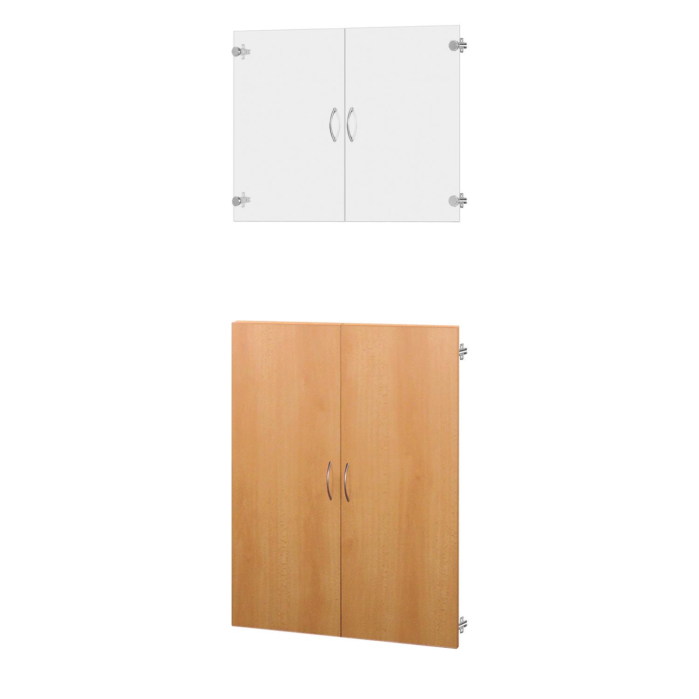 Skleněné a dřevěné dveře 30A buk