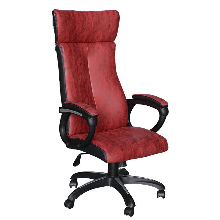 Kancelářské křeslo, červená/černá, MERSIN