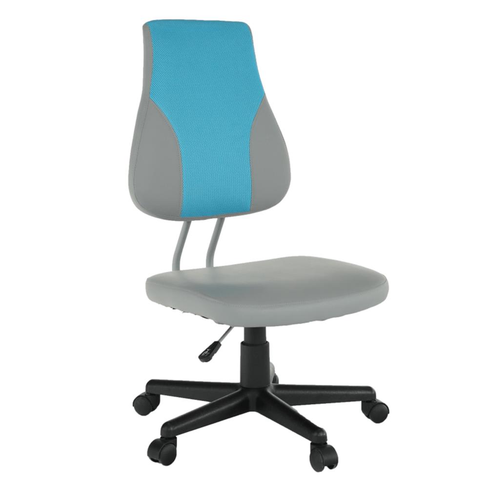 Otočná rostoucí židle, šedá / modrá, RANDAL