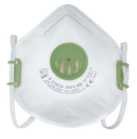 Zdravotní respirátor třídy FFP3 OXY s ventilkem 1ks - vyrobeno v EU